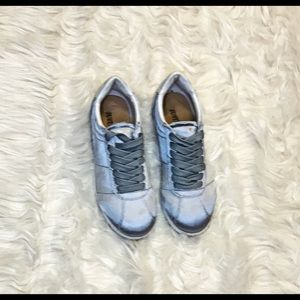 Grey Satin Sneaks